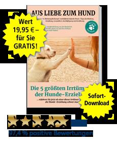 Das exklusive eBook Hundeverhalten und -erziehung: Die 5 größten Irrtümer – GRATIS für Sie.